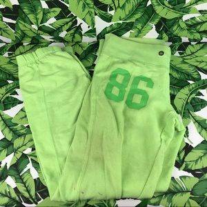 5 for $25 PINK VS Green Spellout Butt Sweatpants